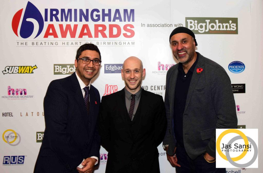 From Left: Hosts Raaj Shamji, Dan Kelly and official photographer Jas Sansi